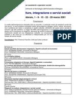 Rapporti Culture Corso 2001