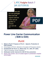 Lecture notes on PLCC  at MSETCL RTC Padghe Batch 7(Dt 12.7.13)