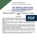 Multiculturalita Istituzioni Corso 2000