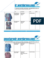 jual grosir Batik Pekalongan baju murah model terbaru 2009 katalog 10 November