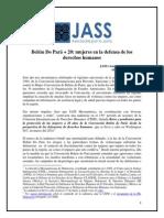 Defensoras DDHH y Belém Do Pará + 20 Artículo JASS