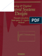 Analog and Digital Control System Design CT Chen