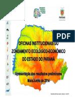 Apresentação do ZEE Paraná