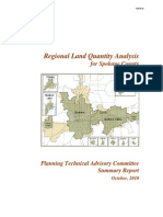 2010 Planning Technical Advisory Committee  Summary Report - Regional Land Quantity Analysis  for Spokane County