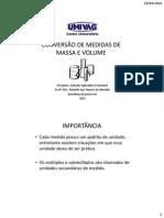 Aula 4 - Conversão de Medidas de Massa e Volume