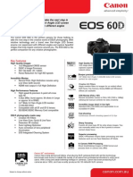 EOS 60D Tech Sheet