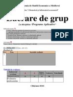 Lucrare Grup Programe Aplicative