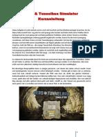 Berg Tunnelbau Simulator Kurzanleitung