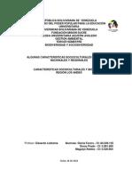 Trabajo Tema III. Algunas Caracteríaticas Socioculturales y Biológicas Región Andina 0r-05-2014
