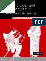 Hellenistic Poetry Fantuzzi_ Hunter