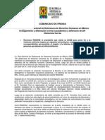 COMUNICADO DE PRENSA (120514) / Preocupa a Red Nacional de Defensoras de Derechos Humanos en México hostigamiento y difamación contra la académica y defensora de DH Clemencia Correa.