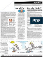 Sentniel Genetically Modified Foods -- Safe