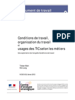 2013-03 - Conditions Travail Metiers