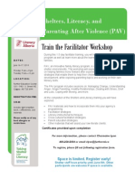 Shelters, Literacy, and Parenting After Violence (PAV)