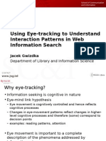 Using Eye-Tracking to Understand Interaction Patterns in Web Information Search