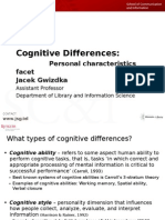 Cognitive Differences: