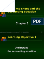 Chapter 3 the Balance Sheet and the Accounting Equation