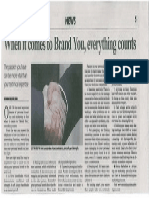 When It Comes to Brand You Everything Counts - The Star Workplace 4 July 2012