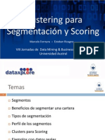 Clustering Para Segmentación y Scoring