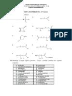 LISTA de EXERCÍCIO - Nomenclatura Dos Compostos Orgânicospdf