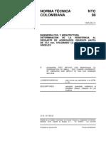 NTC 98 Determinación de la Resistencia al Desgaste de los Agregados Gruesos hasta de 37.5mm, Utilizando la Máquina de los Ángeles.pdf