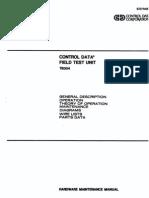 CDC FTU Field Test Unit TB304