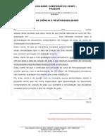 Termo Ciencia e Responsabilidade (1)