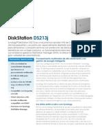 NAS Synology DS213j - Synology DS213j Data Sheet Esn