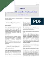 Senegal - Bancarisation - Loi
