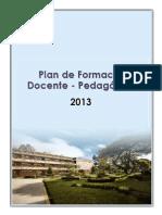 Plan de Formación Docente Pedagógica 20132