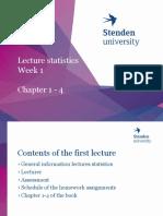 Statistics IBMS Week 1