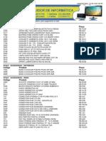 Tabela de Preço H2I Distribuidora 12 de Maio de 2014