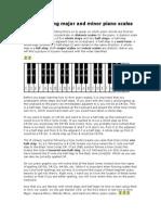 Constructing Major and Minor Piano Scales
