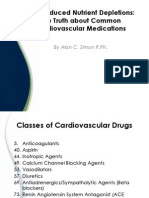 Cardiovascular Medications - Drug Induced Nutrient Depletions