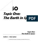1º ESO.- Topic 1, The Earth in Space
