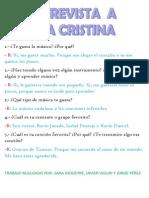 Entrevista a Ana Cristina