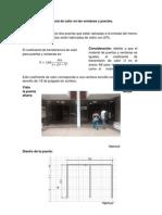 Calculo de Transferencia de Calor en Las Ventanas y Puertas Final