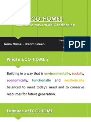 What Is Eco >> Eco Homes Ppt Air Conditioning Engineering Thermodynamics