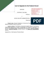 09-3020 Williams v. Social Security Administration