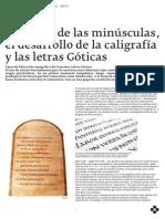 Teórico 03 - El origen de las minúsculas, el desarrollo de la caligrafía y las letras Góticas.pdf
