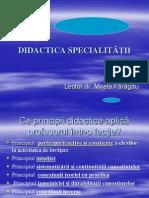 DIDACTICA SPECIALITa si pedagogie