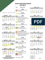 board approved 2013-2014 calendar