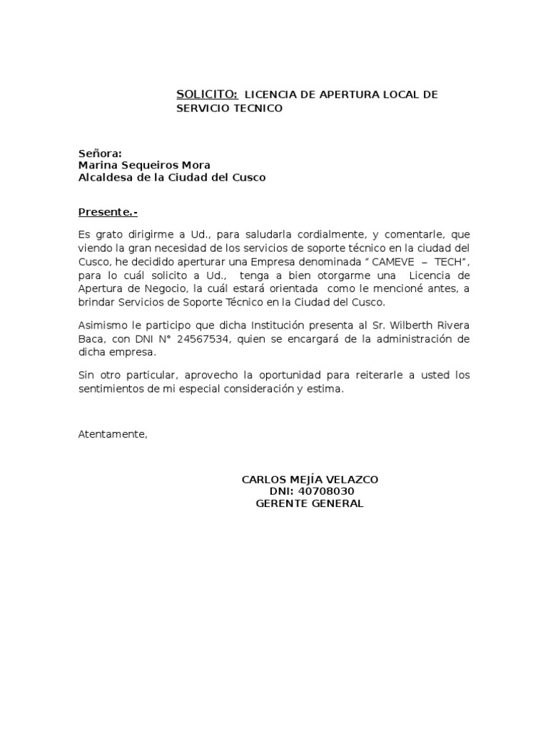 Carta autorizacion for Solicitud de chequera