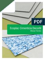 Manual Tecnico Ecoplac Cimenticia Decorlit Hr