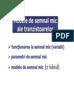 Modele de Semnal Al Tranzistoarelor 02 T Modele Semnal Mic Ro