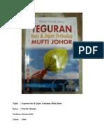 Teguran Jujur Dan Suci Terhadap Mufti Johor