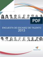 Encuesta Escasez de Talento Manpower 2013