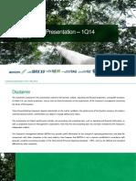 Institutional Presentation 1Q14
