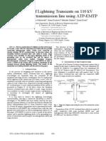 Simulation of Lightning Transients 110KV ATP