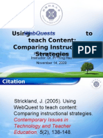 Oral Presentation - WebQuest
